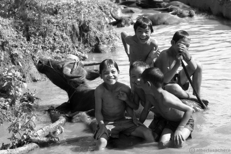 23.Vietnam-bimbi-e-bufali